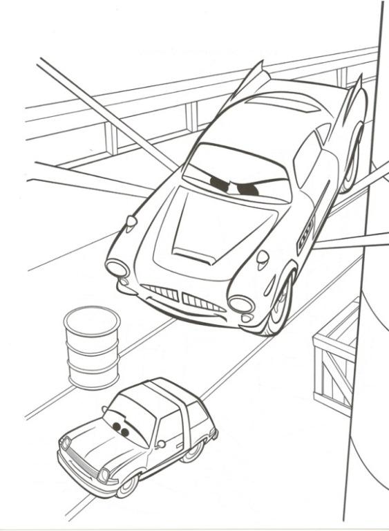 Kleurplaten Van Cars 2.Kleurplaten En Zo Kleurplaten Van Cars 2