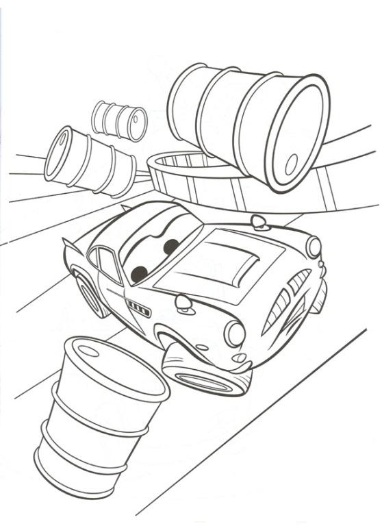 Kleurplaat Cars 2 Bliksem - ARCHIDEV