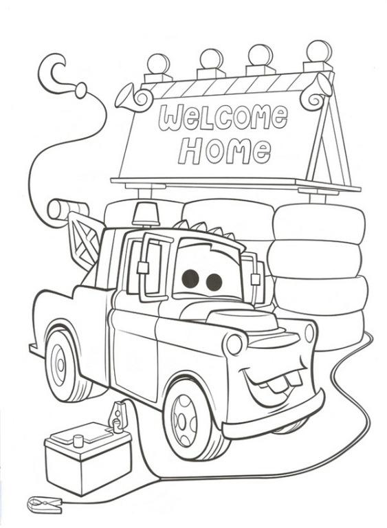 kleurplaten van welkom thuis