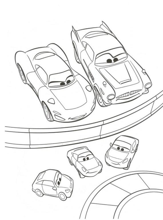 Cars Francesco Coloring Pages