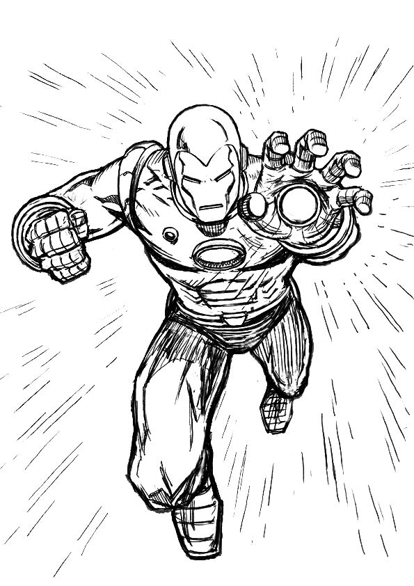 Free big iron man coloring pages for Free coloring pages iron man