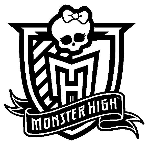 Print Monster High Logo kleurplaat