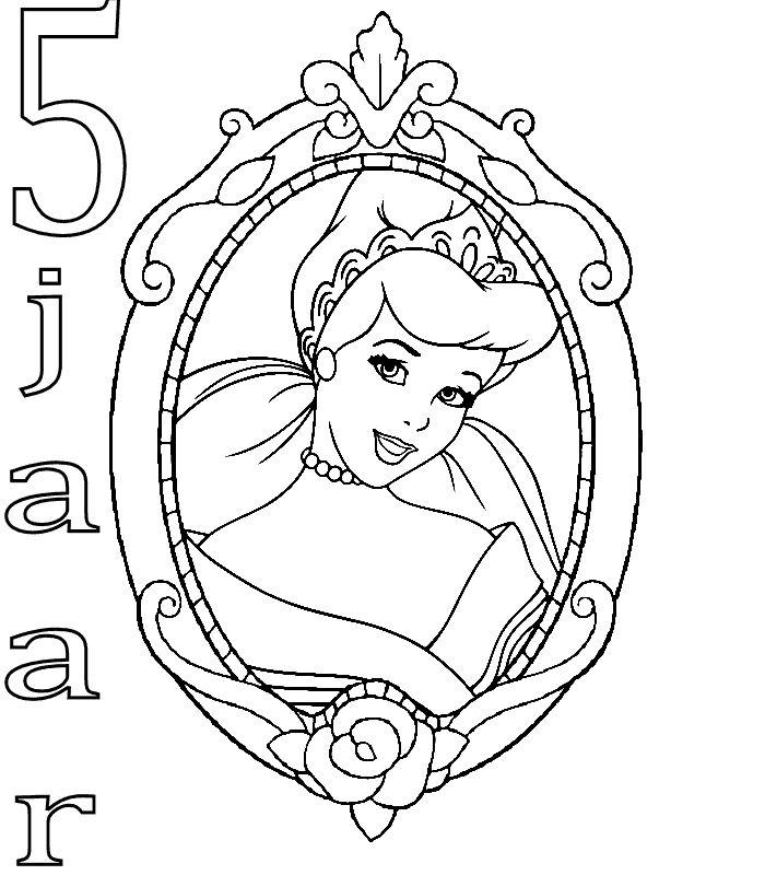 Kleurplaten En Zo 187 Kleurplaten Van Prinsessen Verjaardag