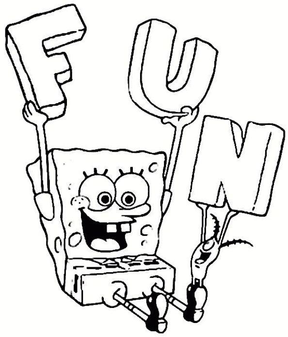 Print Spongebob kleurplaat