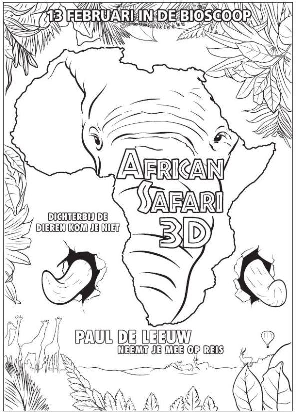 Kleurplaten En Zo 187 Kleurplaten Van African Safari 3d