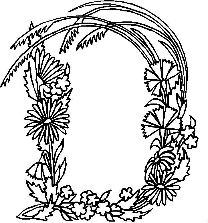 Kleurplaten Bloemen Printen.Kleurplaat Volwassenen Letters Kleurplaten Tekeningen
