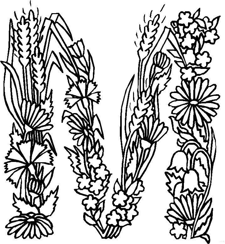 424 on Letter O Coloring Pages