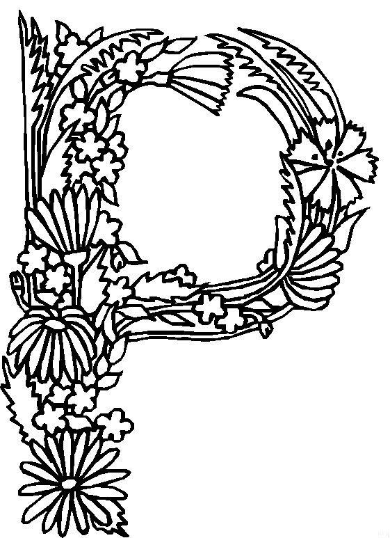 Kleurplaten Volwassenen Letters.Kleurplaten En Zo Kleurplaten Van Alfabet Bloemen