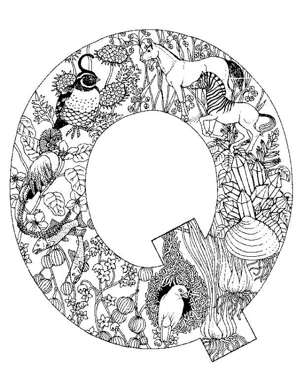 Alphabet Coloring Pages Q : Kleurplaten en zo van alfabet dieren