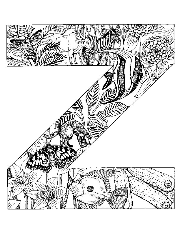 Coloring Pages For Alphabet Animals : Kleurplaten en zo kleurplaat van letter z
