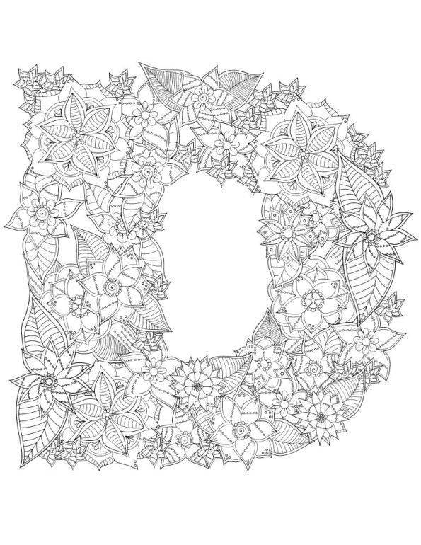 kleurplaten en zo 187 kleurplaten alfabet bloemen moeilijk