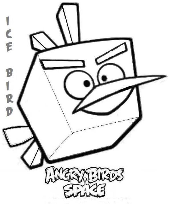 kleurplaten van angry birds space