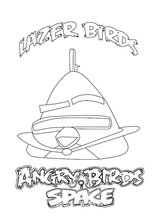 Free Lazer Bird Angry Birds Coloring Pages