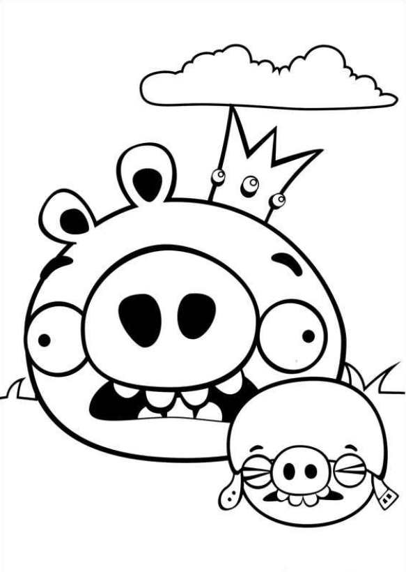 Angry Birds Kleurplaten En Zo.Kleurplaten En Zo Kleurplaat Van Angry Birds