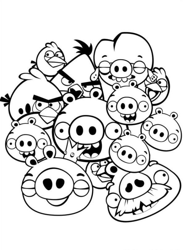 Kleurplaten Van Angry Birds.Kleurplaten En Zo Kleurplaat Van Angry Birds