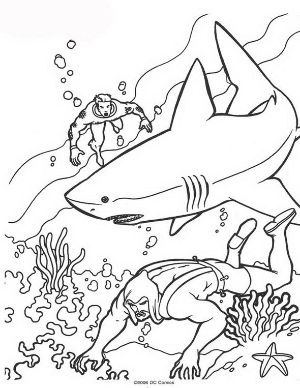 Kleurplaten En Zo Kleurplaat Van Aquaman