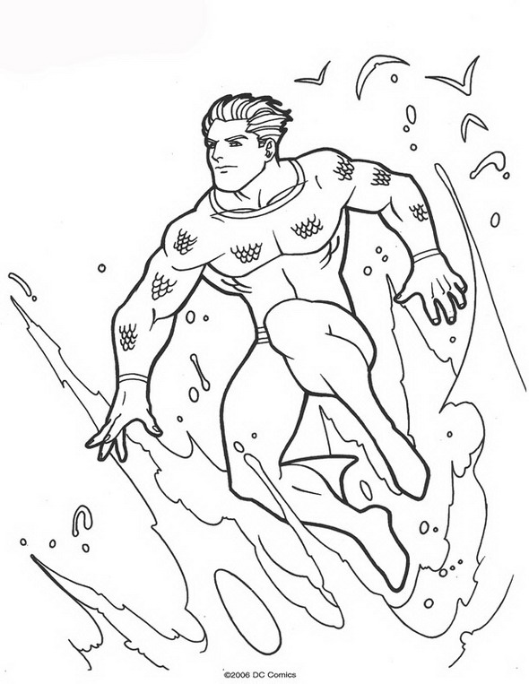 Kleurplaten en zo kleurplaten van aquaman for Aquaman coloring pages