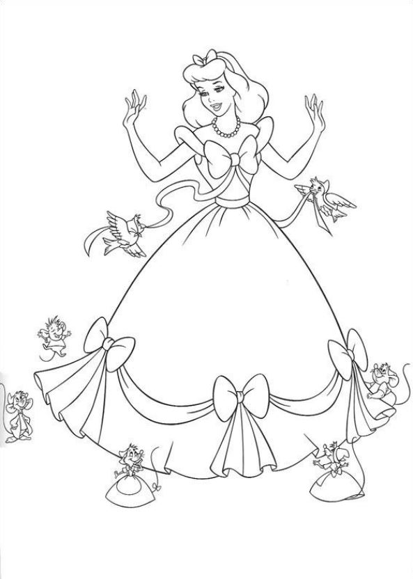 Kleurplaten Prinsessen A4 Formaat.Kleurplaten Prinsessen Assepoester Nvnpr