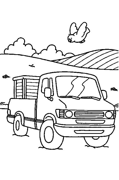 Kleurplaten En Zo Kleurplaat Van Pickup Truck
