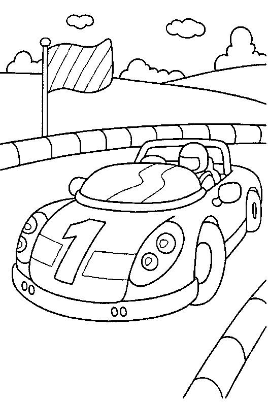 kleurplaten jongens met auto