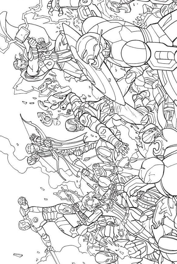 Kleurplaten Marvel Avengers.Kleurplaten En Zo Kleurplaten Van Avengers