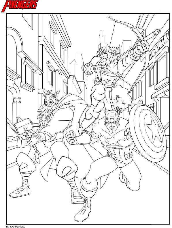 free coloring pages of the avengers assemble