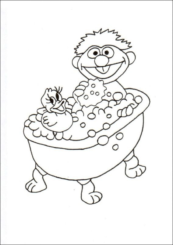 Take A Bath Coloring Pages