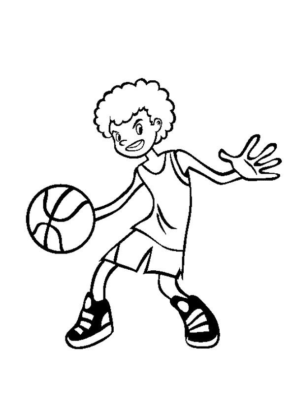 kleurplaten en zo » kleurplaten van basketbal