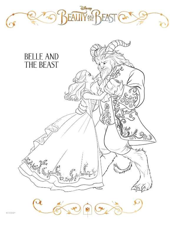 Print beauty-and-the-beast-coloring-sheet kleurplaat