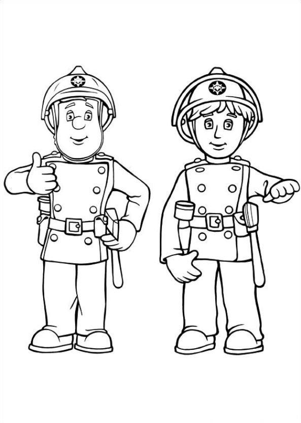 Kleurplaten En Zo Kleurplaat Van Brandweerman Sam