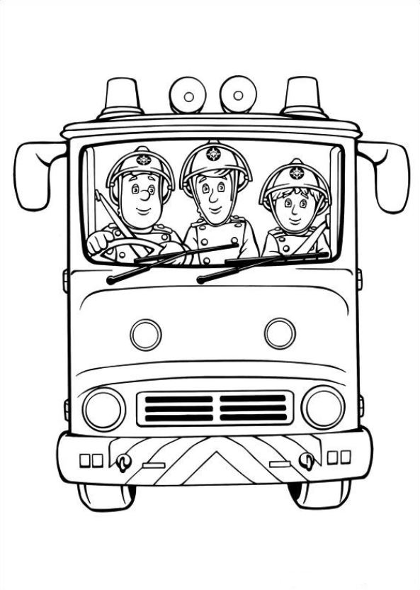 Free Coloring Pages Of Fireman Sam Fire Engine Fireman Sam Coloring Pages