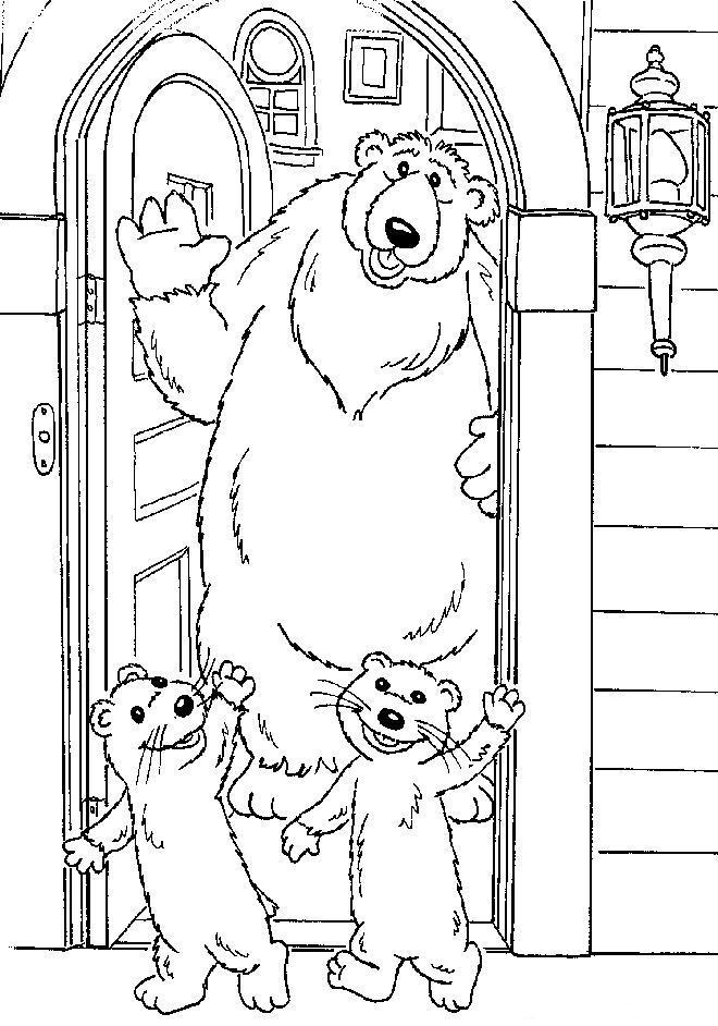 kleurplaten en zo  u00bb kleurplaten van bruine beer