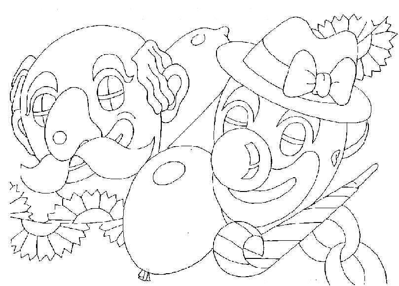 Kleurplaten En Zo Carnaval.Kleurplaten En Zo Kleurplaat Van Carnaval Clowns
