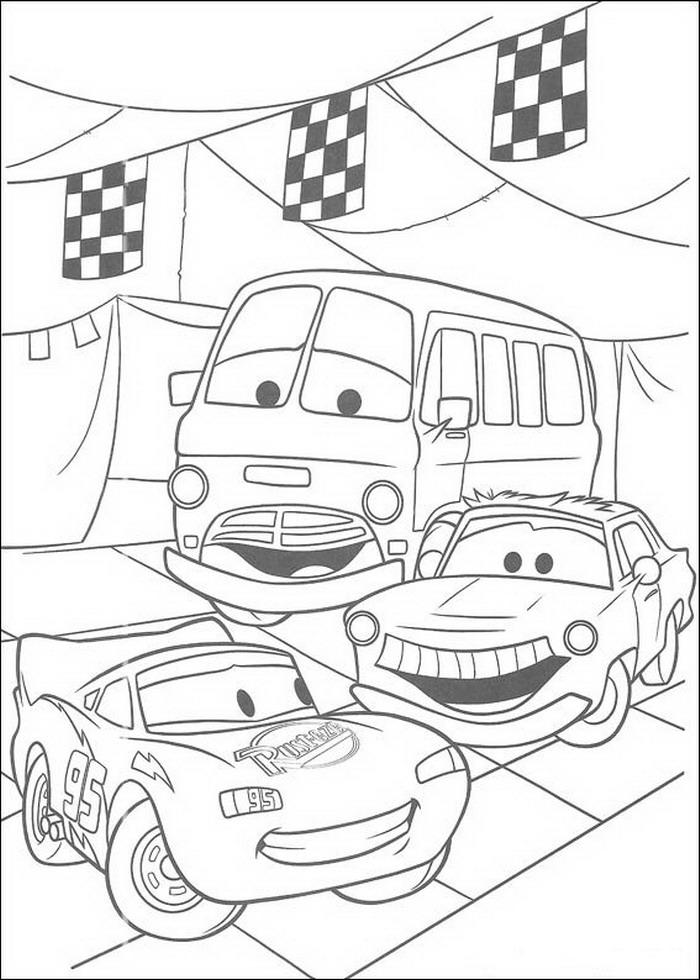 Kleurplaten Verjaardag A4.Kleurplaten En Zo Kleurplaten Van Cars Pixar