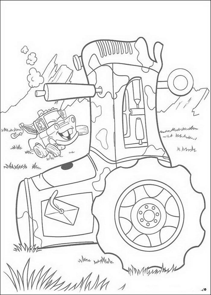Kleurplaten Van Tractors.Kleurplaten En Zo Kleurplaat Van De Tractors Vallen Omver