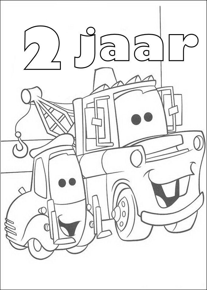 Kleurplaten en zo kleurplaten van cars verjaardag for Poppenhuis kind 2 jaar