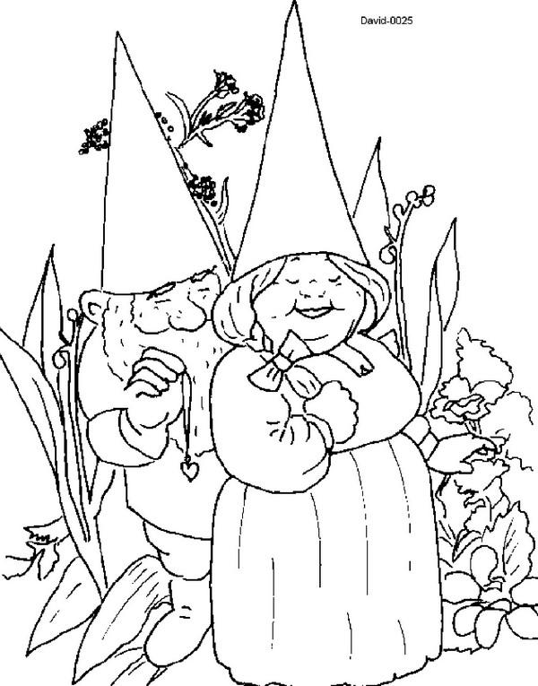 Kleurplaten en zo kleurplaten van david de kabouter for Garden gnome coloring pages