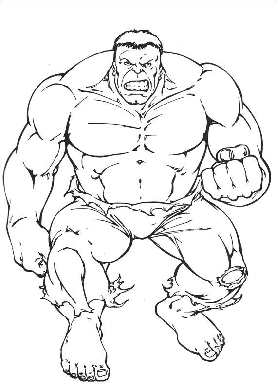 Kleurplaten en zo kleurplaten van hulk for Incredible hulk coloring page