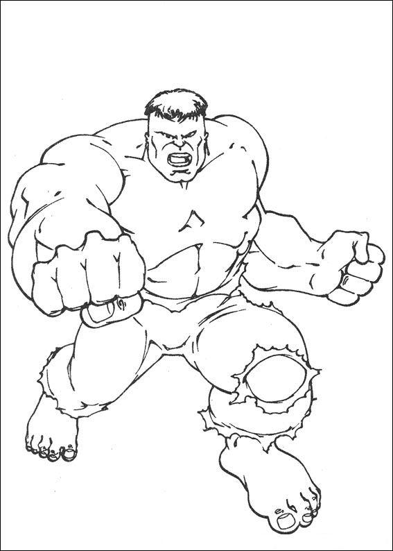 Kleurplaten En Zo Kleurplaat Van Hulk