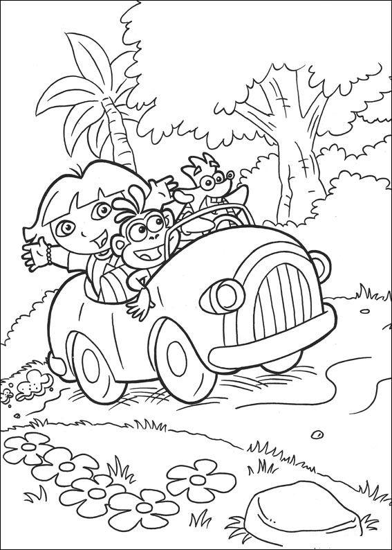 Kleurplaten En Zo Dora.Kleurplaten En Zo Kleurplaat Van Dora De Verkenner 2