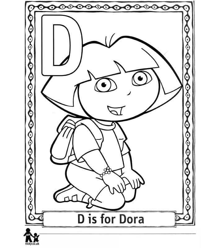 Kleurplaten En Zo Dora.Kleurplaten En Zo Kleurplaat Van D Dora