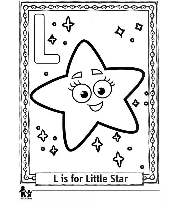 Kleurplaten En Zo Kleurplaat Van L Little Star Kleine Ster