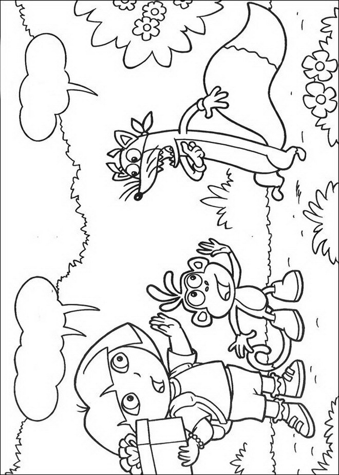Zeemeermin Kleurplaat Staart Kleurplaten En Zo 187 Kleurplaten Van Dora De Verkenner