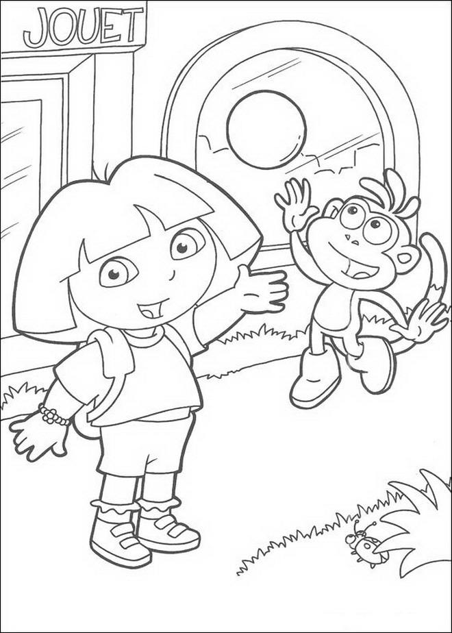 Kleurplaten Dora Spelletjes.Kleurplaten En Zo Kleurplaten Van Dora De Verkenner