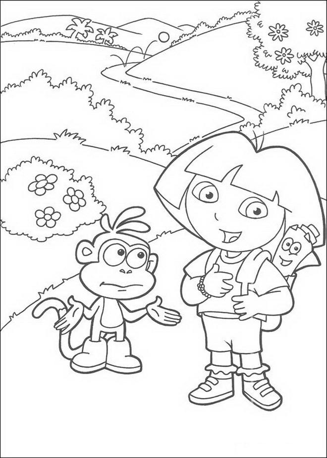 Kleurplaten En Zo Dora.Kleurplaten En Zo Kleurplaat Van Dora En Boots