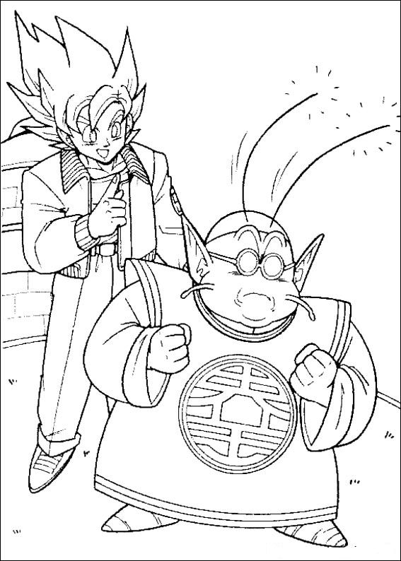 Print Dragon Ball Z kleurplaat