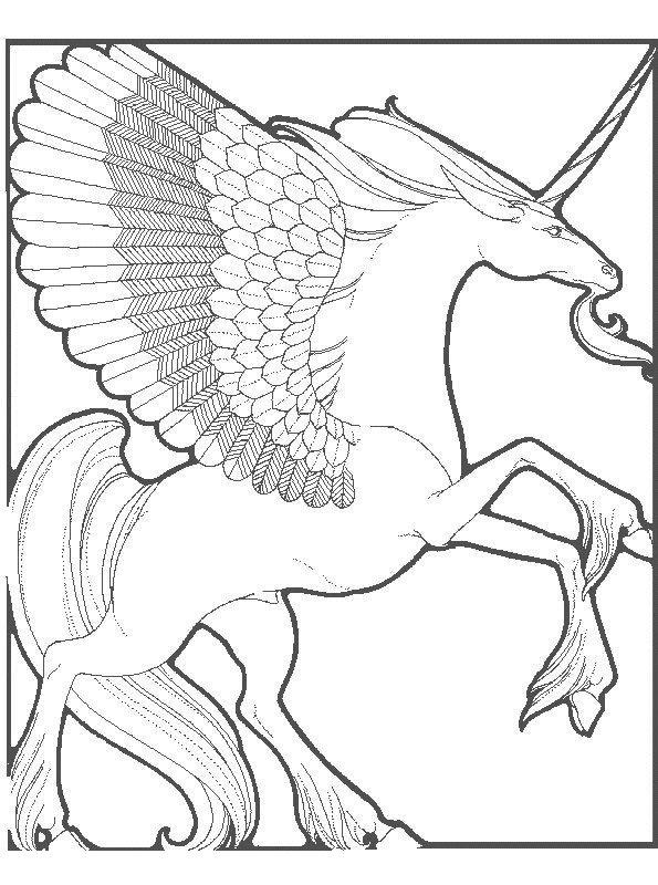 hard unicorn coloring pages - kleurplaten en zo kleurplaten van eenhoorn