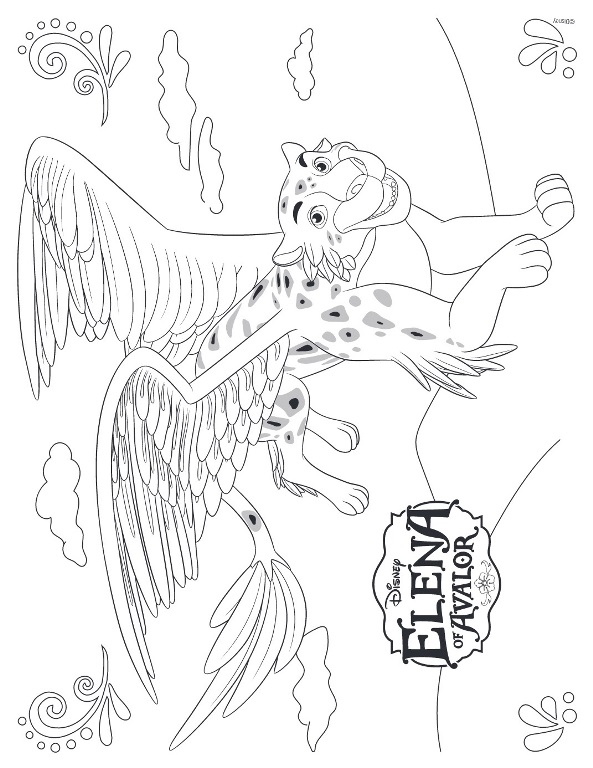of avalor disney coloring pages sketch coloring page