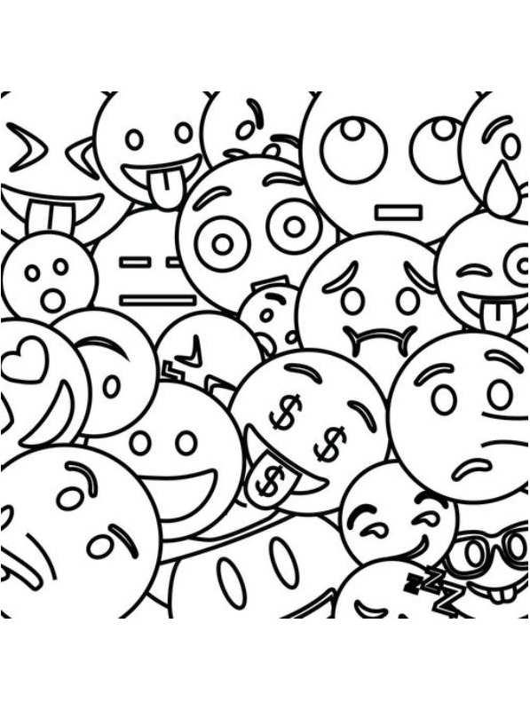 Kleurplaten En Zo 187 Kleurplaten Van Emoji Movie