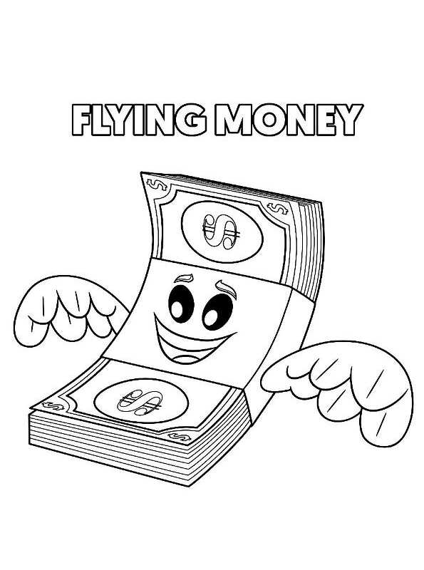 flying money emoji movie